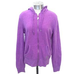 VICTORIA'S SECRET Purple Wings Hooded Zip Up M